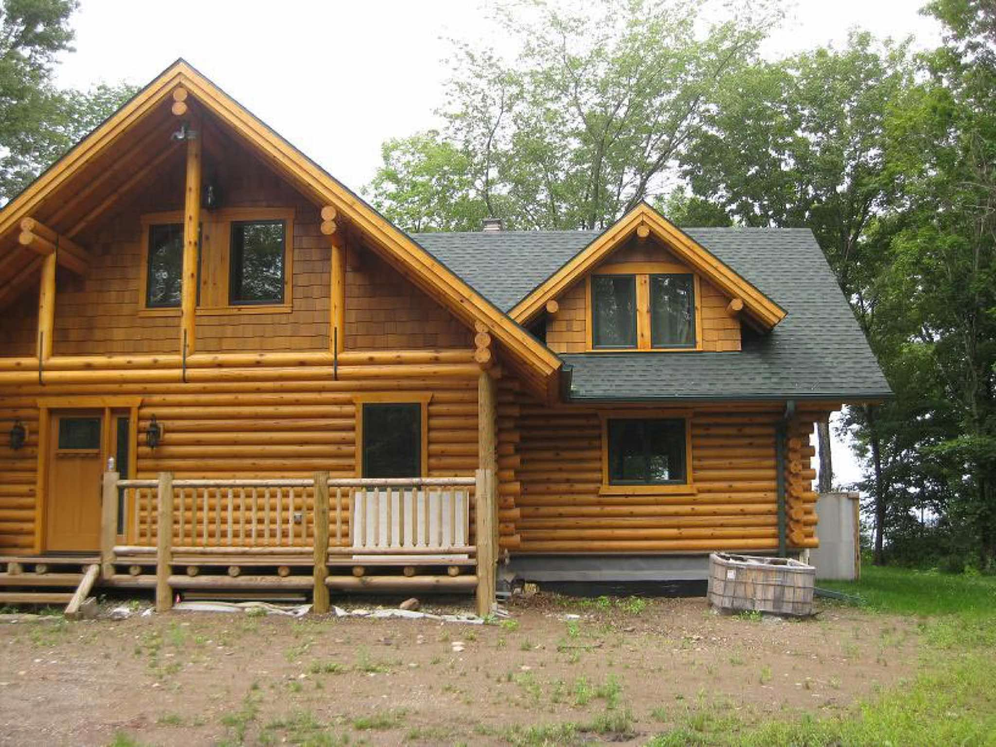 Northern minnesota log homes for Log home addition